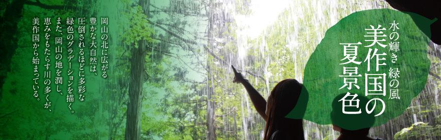 水の輝き 緑の風 美作国の夏景色