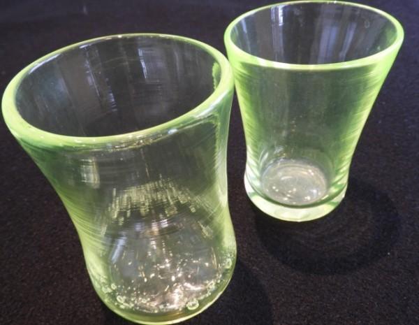 ウランガラス吹きガラス体験