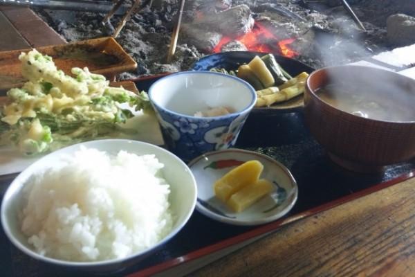 山菜採り&天ぷら作り体験①