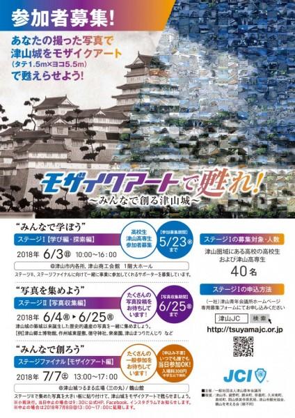 津山城モザイクアート