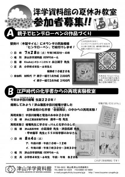 洋学資料館夏休み教室①